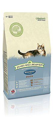 James Wellbeloved Dry Cat Food Duck and Rice House Cat 4 Kg
