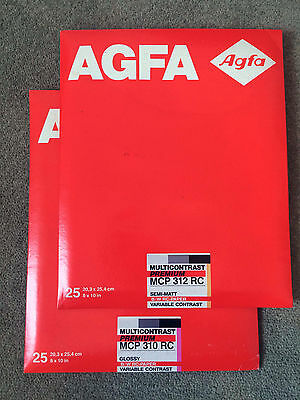 "AGFA Multicontrast MCP312 RC 8x10"" Darkroom Photo Paper"