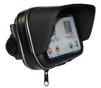 "5"" WATERPROOF GPS SAT NAV CASE NUVI MOTORCYCLE MOTORBIKE MOUNT SUNSHADE 5 inch"
