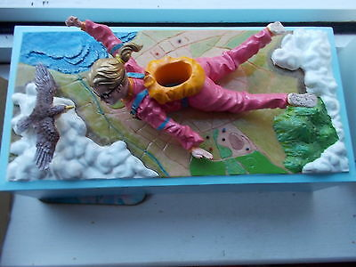 Rotary Hero Inc Tissue Box Cover Lady Skydiver