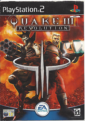 QUAKE III (3) REVOLUTION for Playstation 2 PS2 - with box & manual - PAL