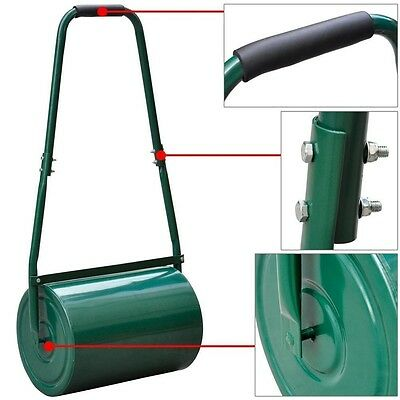 Heavy Duty Metal 30L Water/Sand Filled Garage Perfect Grass/Lawn Roller - Bra...