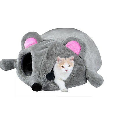 Cartoon Mouse Cat Bed Pet House Cushion Nest Soft Igloo Cave Mat Sleeping Bed
