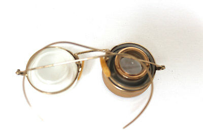 Antique Optical Shuron Ful Vue 1920s Optometrist Measuring Device 12k Gold Fill
