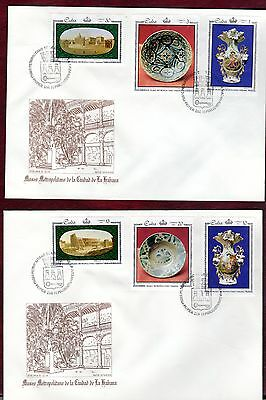 CARIBBEAN STAMPS- Porcelain Exhibition  ,2x FDC 1971