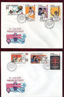 CARIBBEAN STAMPS- 6th Panamerican Games in Colombia  ,2x FDC 1971
