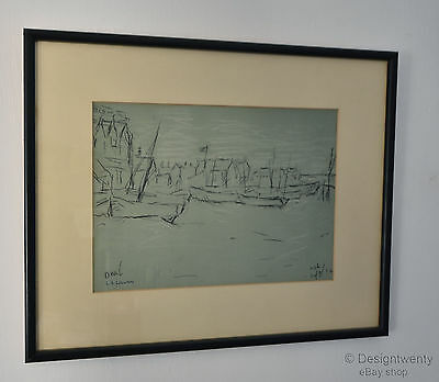 L S Lowry Signed Venture Print 1973 Deal Limited Edition Seascape