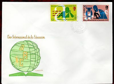 CARIBBEAN STAMPS- International Education Year , FDC 1970