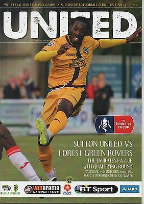 16/17  Sutton United v Forest Green Rovers  (FA Cup)