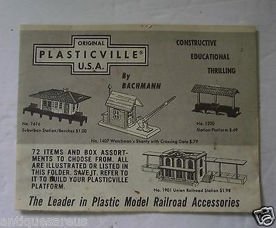 Plasticville Usa 1958 Product Brochure Train Model Kits