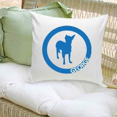 Personalized Dog Lover Throw Pillow Home Decor Decorative Cotton Pillow 16""