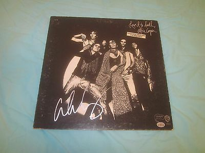 Alice Cooper Love In To Death Autographed Record Album Hologram
