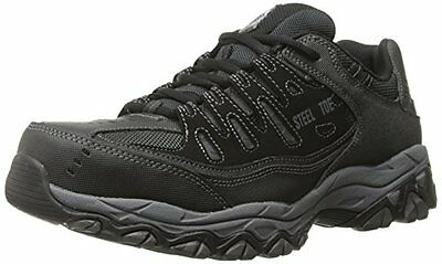 New 77055 Skechers For Work Men's Cankton Athletic Lace Boot, Black/charcoal
