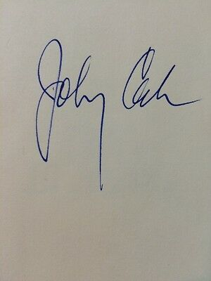 """JOHNNY CASH MUSIC LEGEND SIGNED AUTOGRAPHED """"MAN IN BLACK"""" BOOK 3rd Edition"""