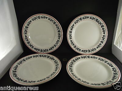 4 Matching Grape Vine ? Hotelware Dinner Plates Grindly England 11-54