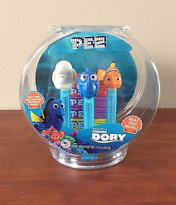 PEZ - Finding Dory Fish Bowl - Set of 3  in fish bowl- Mint in Fish Bowl