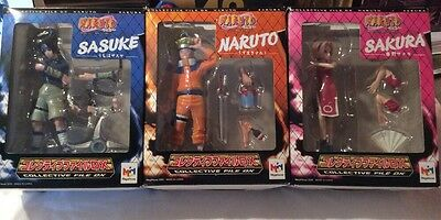 Naruto/ Sasuke / Sakura/ Set Of 3 By MegaHouse/ Action Figure