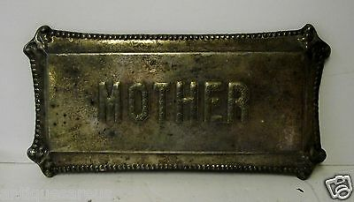 "Antique Halloween 8"" X 4""  Mother Headstone Body Marker Or Tip Tray"