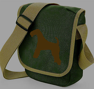 Airedale Terrier Silhouette Messenger Bag Shoulder Bags Birthday Xmas Gift