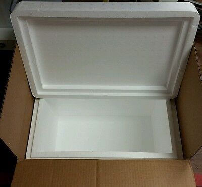 """Styrofoam Insulated Cooler with Shipping Box ext meas 22.5""""Lx16""""Wx17.5""""H XLarge"""