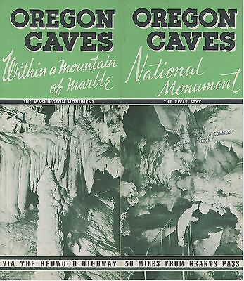 1930s Oregon Caves Travel Brochure Grants Pass OR Chateau Hotel Lodge OR Vintage