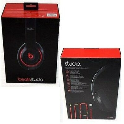 Beats By Dr. Dre Studio Wired Over Ear Headphones Black