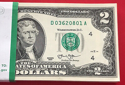 "(1) Two Dollar Bill $2 Note, 2013 "" CHICAGO "" Consecutive ,Uncirculated"