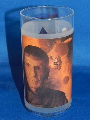 Burger King's Star Trek Collector's Frosted Glass SPOCK Leonard Nemoy Zachary Qu
