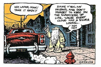 R. Crumb Mr. Natural Keep on the Sunny Side Postcard