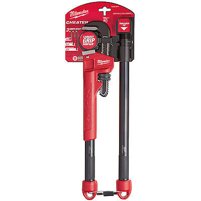 Adaptable Cheater Pipe Wrench Milwaukee 48-22-7314 New