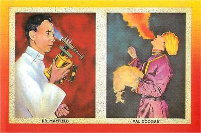 Dr. Mayfield and Val Coogan Sideshow Freak Modern Postcard