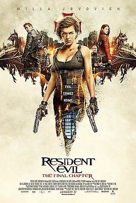 Resident Evil The Final Chapter 27x40 Unused! 2017 Milla Jovovich movie Poster