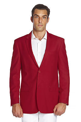 CONCITOR Men's Suit Jacket Separate Blazer Coat Solid RED Color Two Button