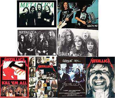 Metallica Band Portraits and Albums Lot of 8 Postcards