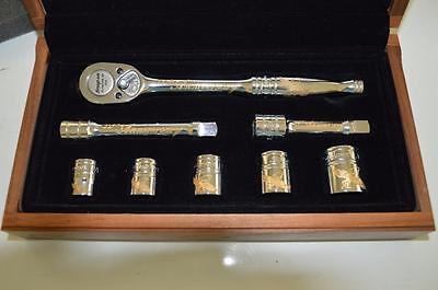 RARE NEW Snap on Tools 24k GOLD ENGRAVED 70th ANNIVERSARY GENERAL SERVICE SET