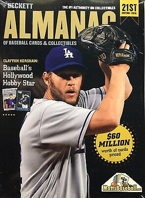 New! 2016 Beckett Almanac Baseball Price Guide 21st Edition - Factory Sealed