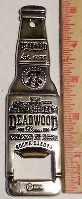 Deadwood bottle opener beer bar collectible has Wild Bill Hickok story on back