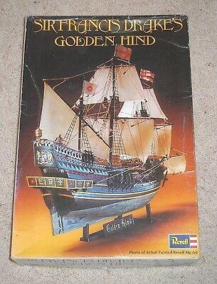 Revell Golden Hind kit #H-325 1/96 scale 1972 Vintage Not Complete. Parts.