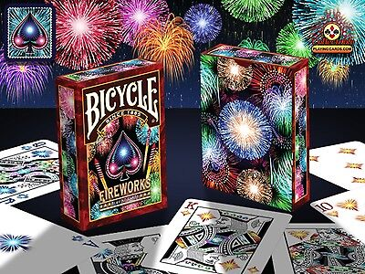 Fireworks Bicycle Deck Of Playing Cards Poker Size Uspcc Magic Tricks Collector