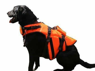 Aussie Naturals Orange Life Jacket For Dogs Pets Reflective Size Medium M