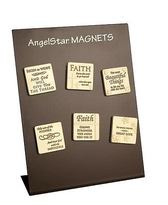 AngelStar Touch of Faith Resin Messages Magnets 24 Assorted & Display