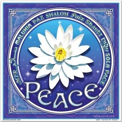 FindSomethingDifferent Lotus of Peace Karma range Window Stickers 17.5 x 17.5cms