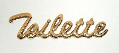 G37: Door Sign, WC Sign,Toilet Sign, Lettering Toilette Polished Brass