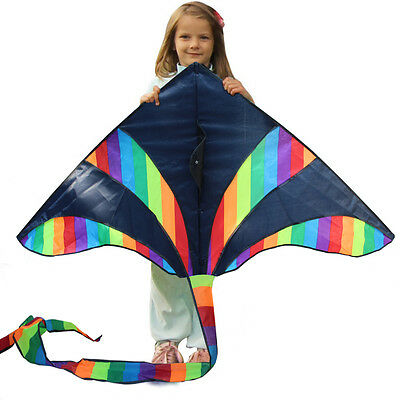 NEW 1.5m 59In colorful Triangle kite as gift for Children Outdoor fun Sports Toy