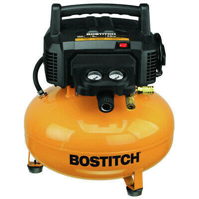 Bostitch BTFP02012 6-Gallon 150 PSI 78.5 dBA Oil-Free Electric Compressor New