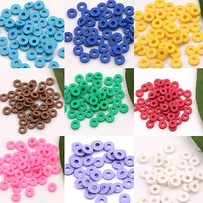 150Pcs 5mm Rondelle Charm Coin Disc Spacer Soft Rubber Beads DIY Jewelry New