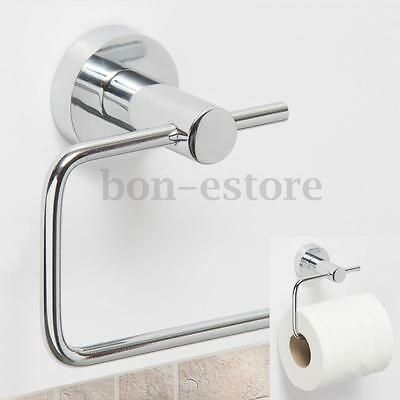 Stainless Steel Bathroom Toilet Roll Tissue Paper Dispenser Holder Hook Mounted