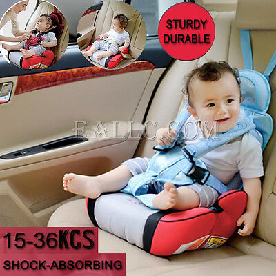Car Booster Seat Safe Sturdy Baby Child Kid Children Fit 3 To 12 Years 15 - 36kg