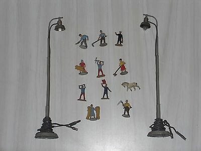 2 Lampadaires Marklin + 11 Figurine Ho 1/87 Germany