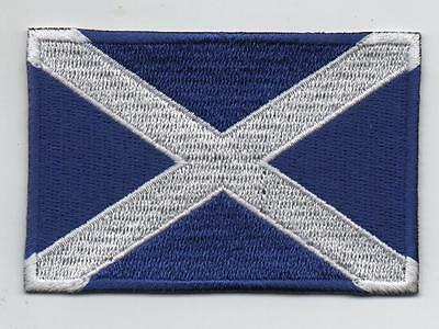 Scotland Large Flag Iron On / Sew On Patch Badge Appliqué, St Andrews Cross